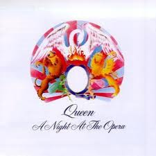 photo jaquette recto album A Night At The Opera du groupe Queen